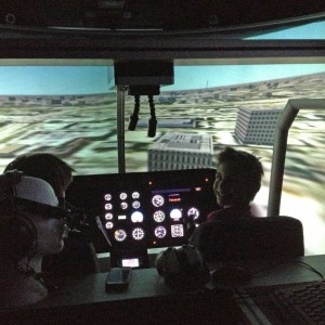 Helicopter simulator in Yorkshire