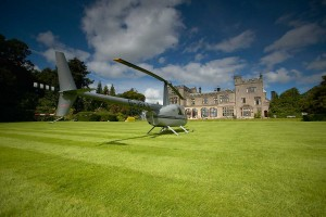 Waiting for guests on the lawn of Armathwaite Hall in the Lake District