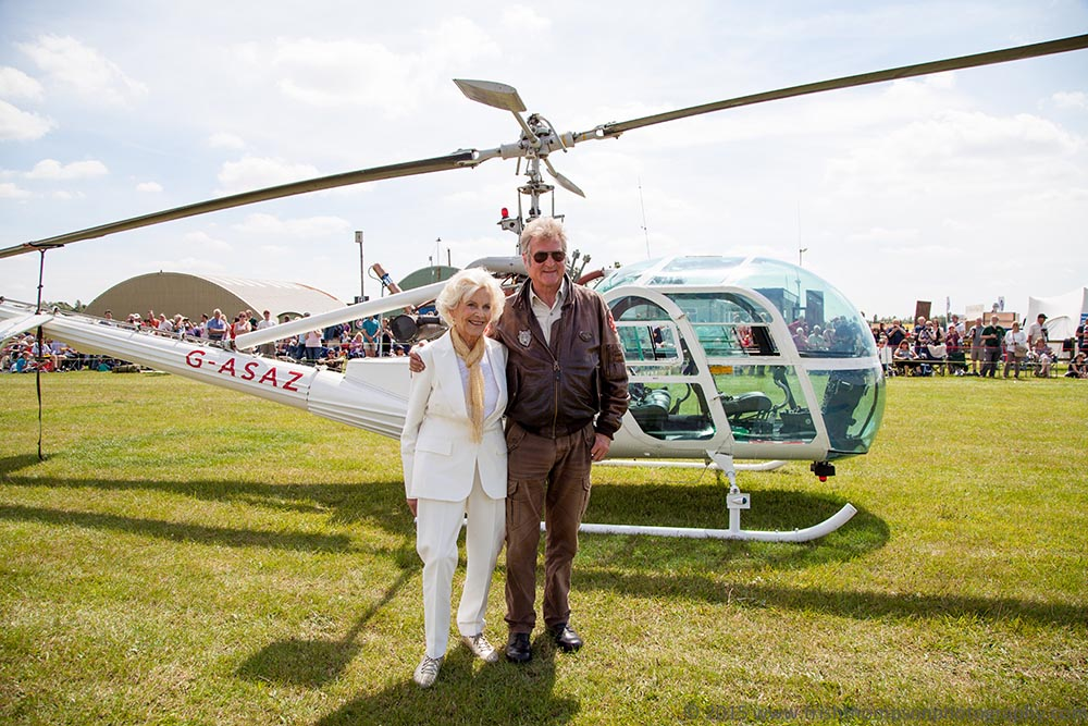 Rob meeting Honor Blackman at Old Buckenham Airshow
