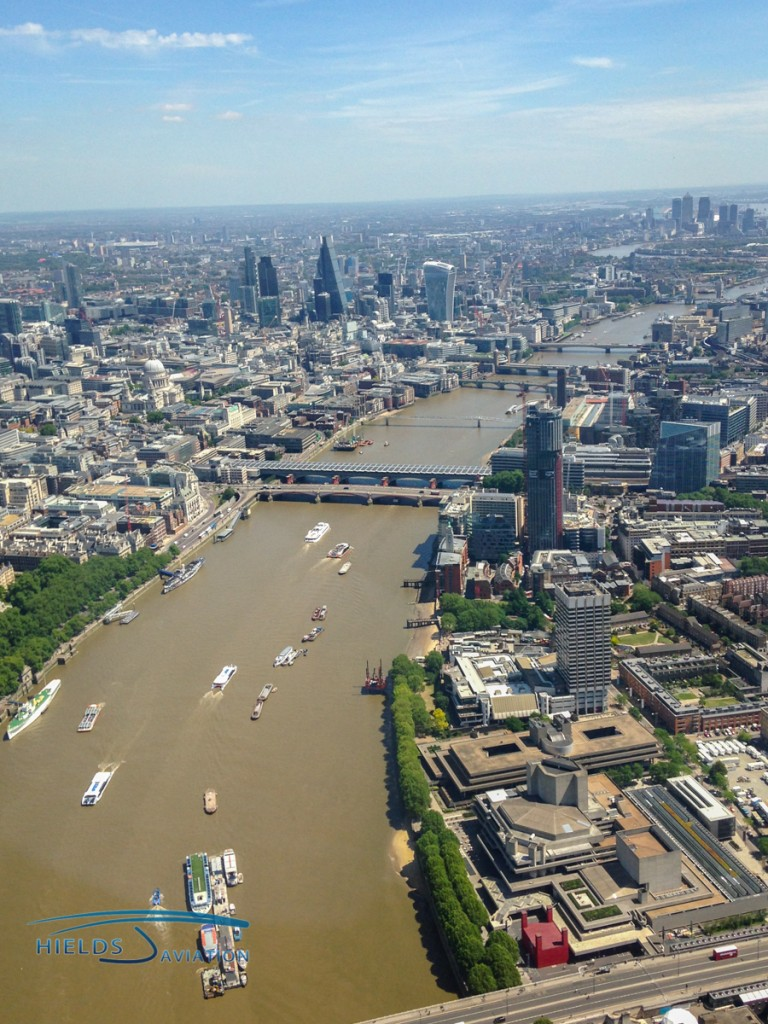 Spectacular views of London are there for helicopter pilots who are comfortable with the heli lanes