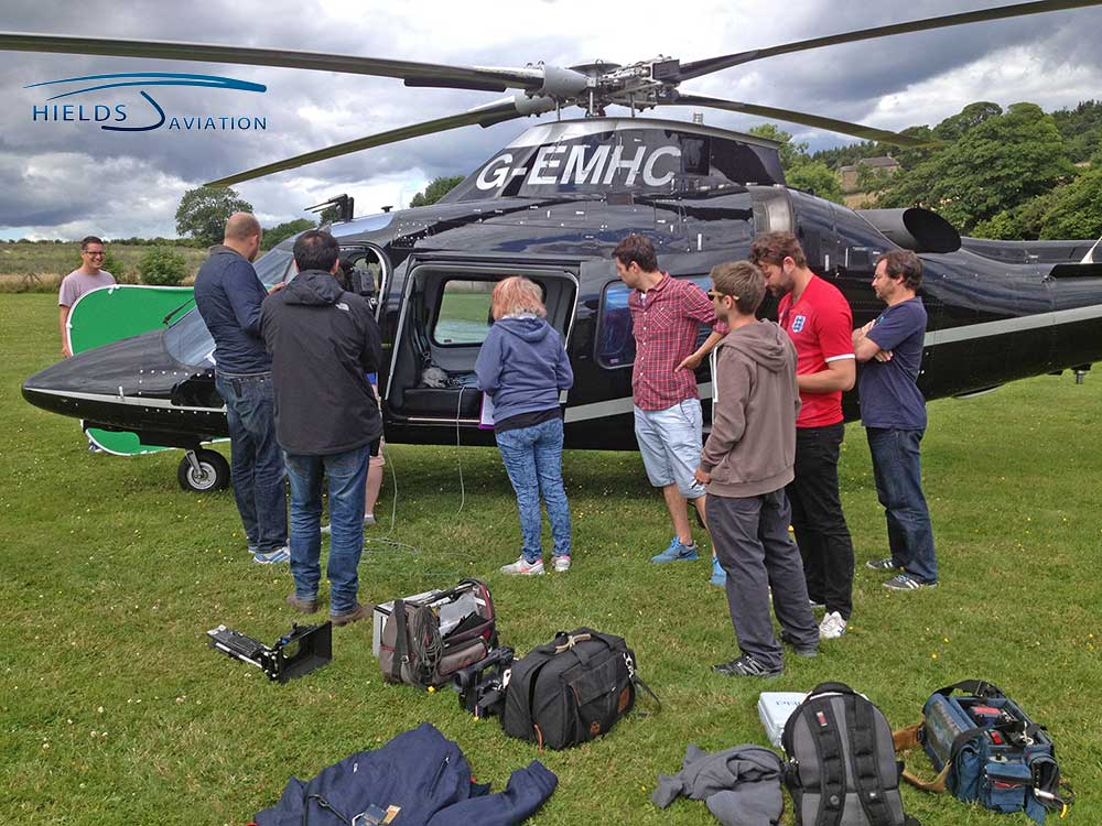 Agusta 109E behind the scenes filming