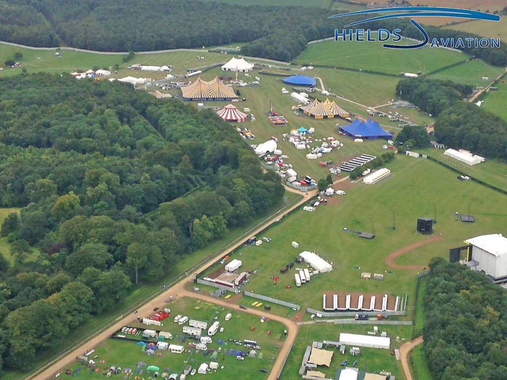 The huge Leeds Festival showground from the air