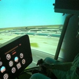 Helicopter simulator experience